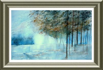 Aquarelle 2006 - Projections en gris bleu (Monique Dolimont)