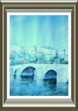 Aquarelle 2006 - Pont de jambes (Emile Wouters)