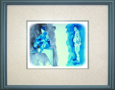 Aquarelle 2006 - Silhouettes rapides (Emile Wouters)
