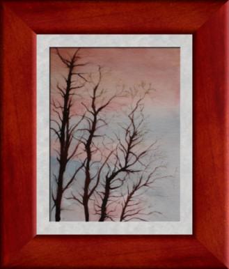 Aquarelle 2007 - Ciel d'hiver (Emile Wouters)