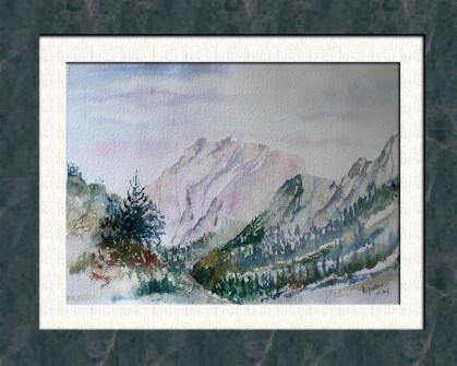 Aquarelle 2007 - La vallée (Emile Wouters)