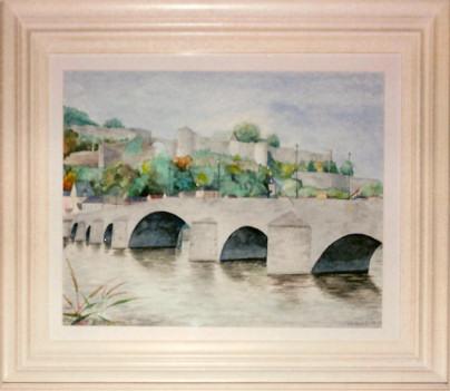 Aquarelle 2007 - Le pont de Jambes (Emile Wouters)