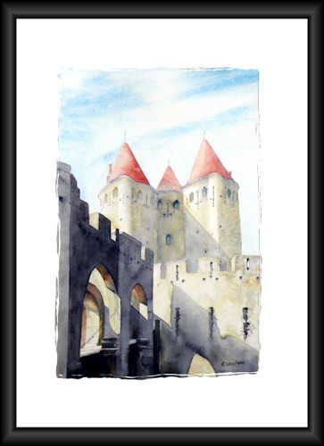 "Aquarelle ""Carcassonne"" 2008 (Emile Wouters)"