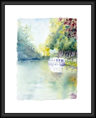 "Aquarelle ""Canal du Midi"" 2008 (Emile Wouters)"