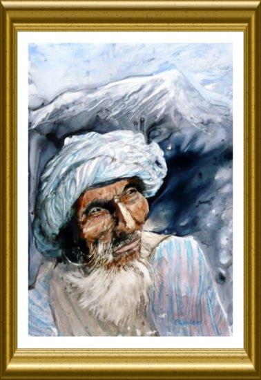 Afghan - Aquarelle 2010 sur papier lanavanguard (Emile Wouters)