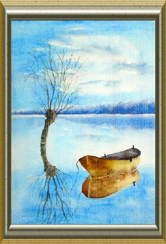 Barque au repos - Aquarelle 2009 (Emile Wouters)