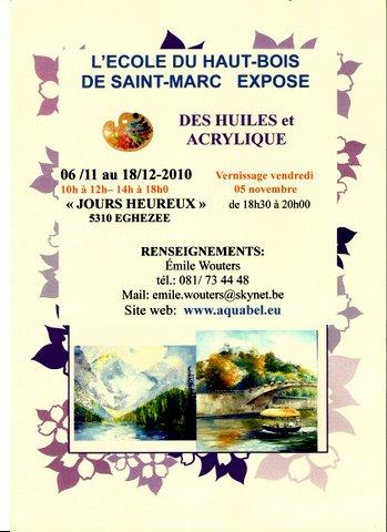 """Exposition à la salle """"Jours heureux"""" à Eghezée (Belgique)"""