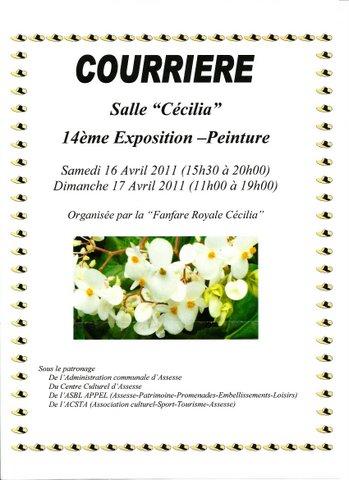 """Exposition à la salle """"Cécilia"""" à Courrière (Belgique)"""
