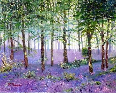 Peinture à l'huile - Elèves - Ecole du Haut-Bois (Namur - Belgique)