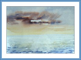 Aquarelle - Horizon lointain (Emile Wouters)